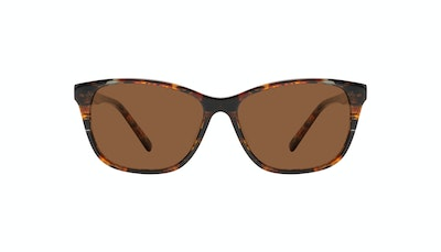 Affordable Fashion Glasses Cat Eye Sunglasses Women Myrtle Petite Mahogany Front