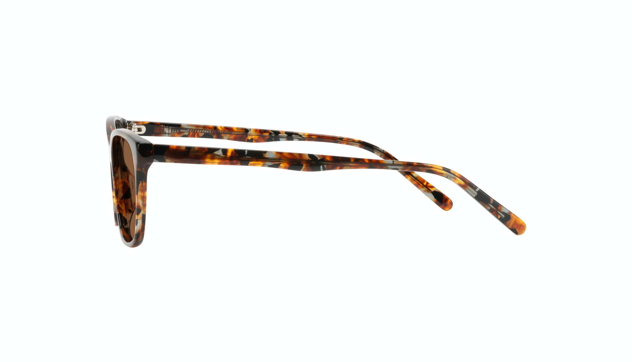 Affordable Fashion Glasses Cat Eye Sunglasses Women Myrtle Petite Mahogany Side