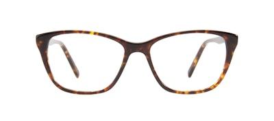 Affordable Fashion Glasses Cat Eye Eyeglasses Women Myrtle Petite Sepia Kiss Front