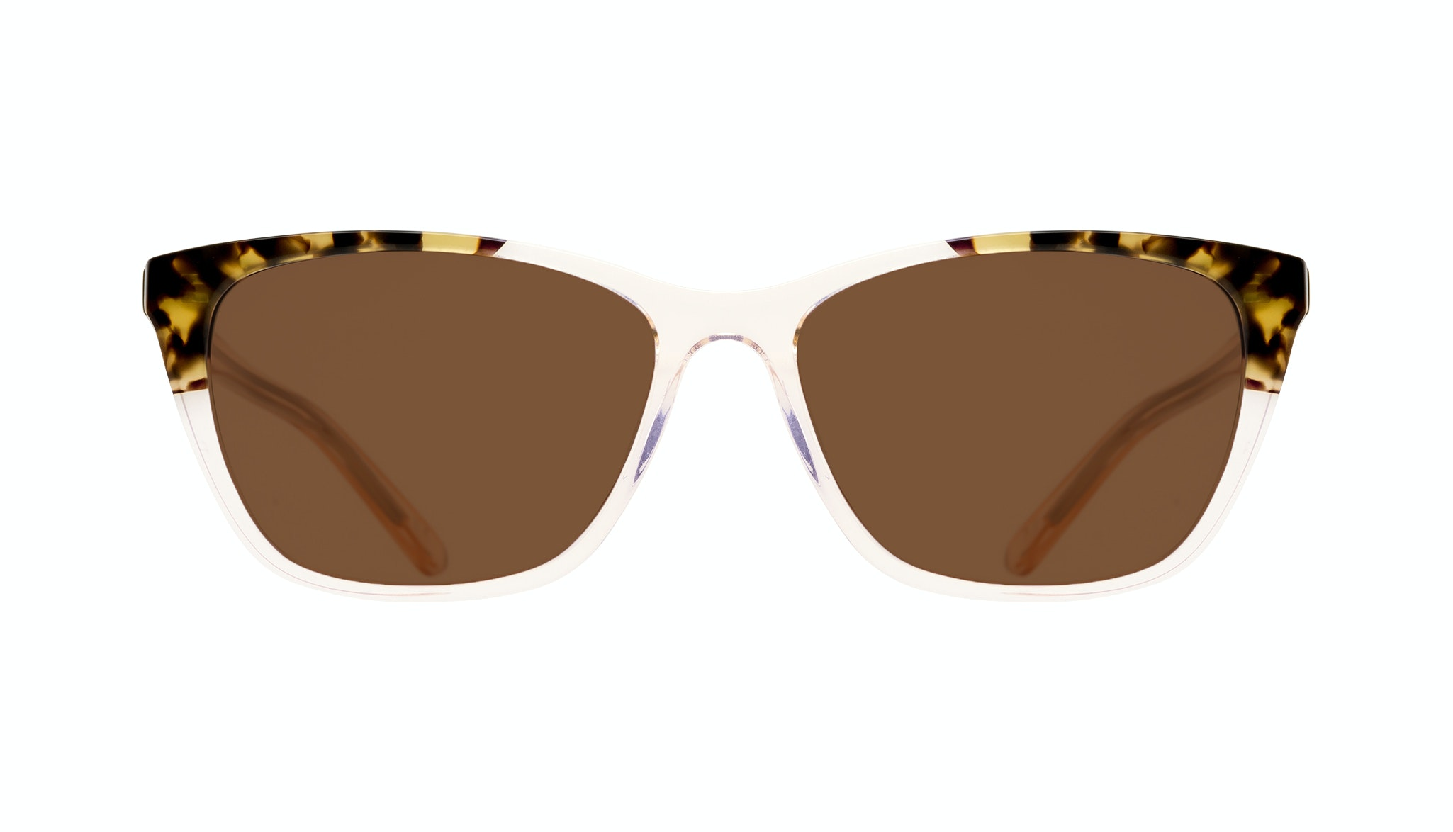 Affordable Fashion Glasses Cat Eye Rectangle Sunglasses Women Myrtle Blond Tortoise Front