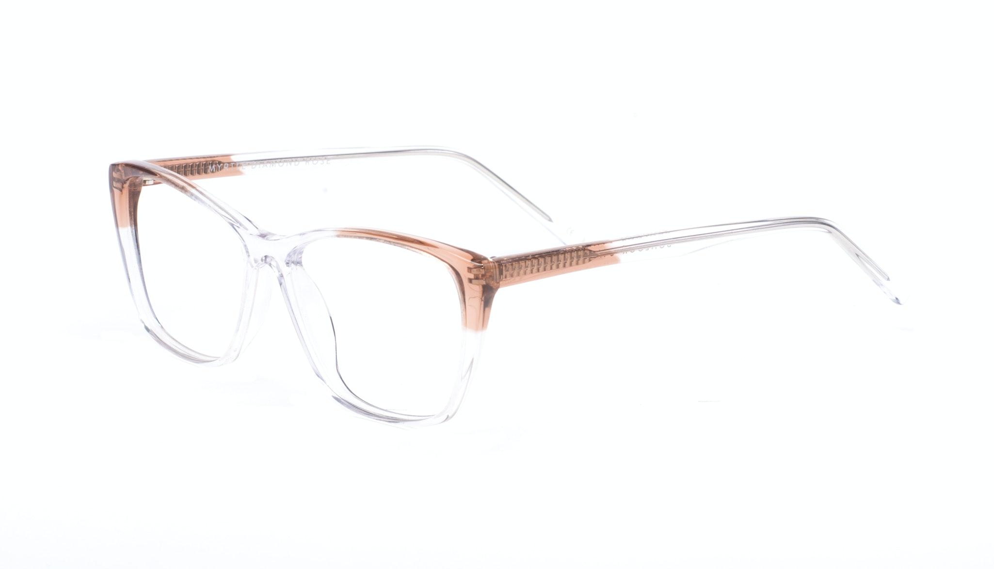 Affordable Fashion Glasses Cat Eye Rectangle Eyeglasses Women Myrtle Diamond Rose Tilt
