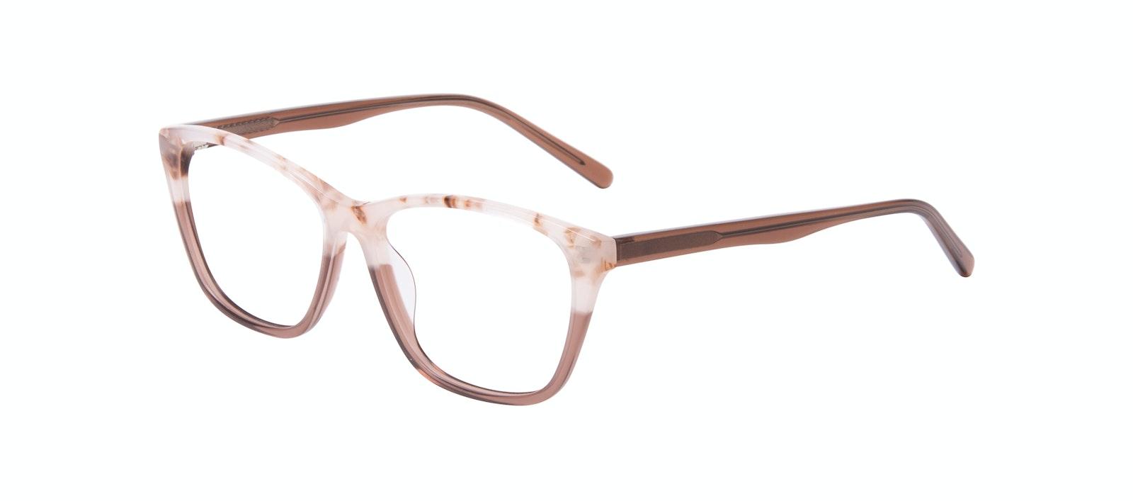 Lunettes tendance Oeil de chat Rectangle Lunettes de vue Femmes Myrtle Frosted Sand Incliné