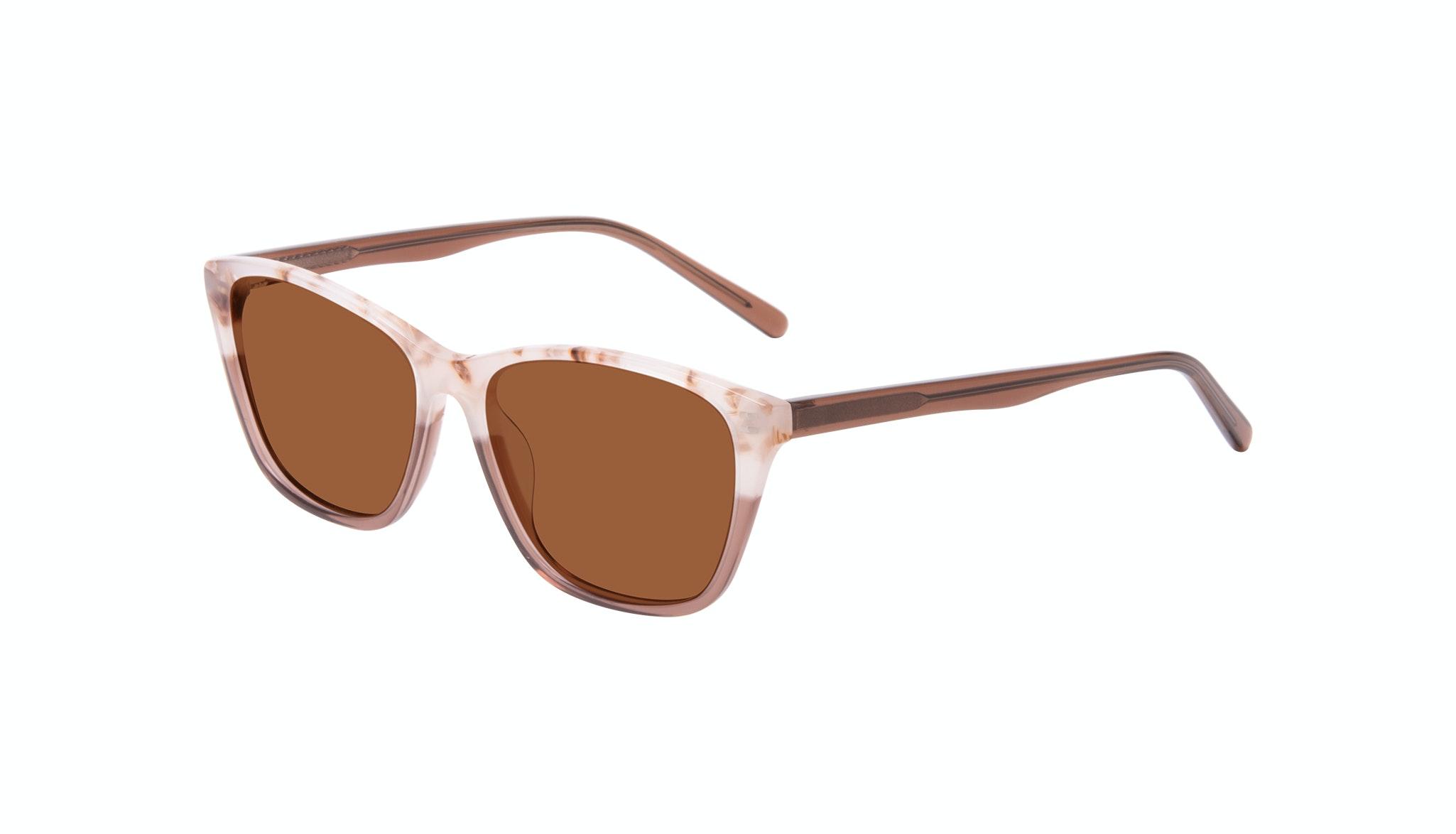 Lunettes tendance Oeil de chat Rectangle Lunettes de soleil Femmes Myrtle Frosted Sand Incliné