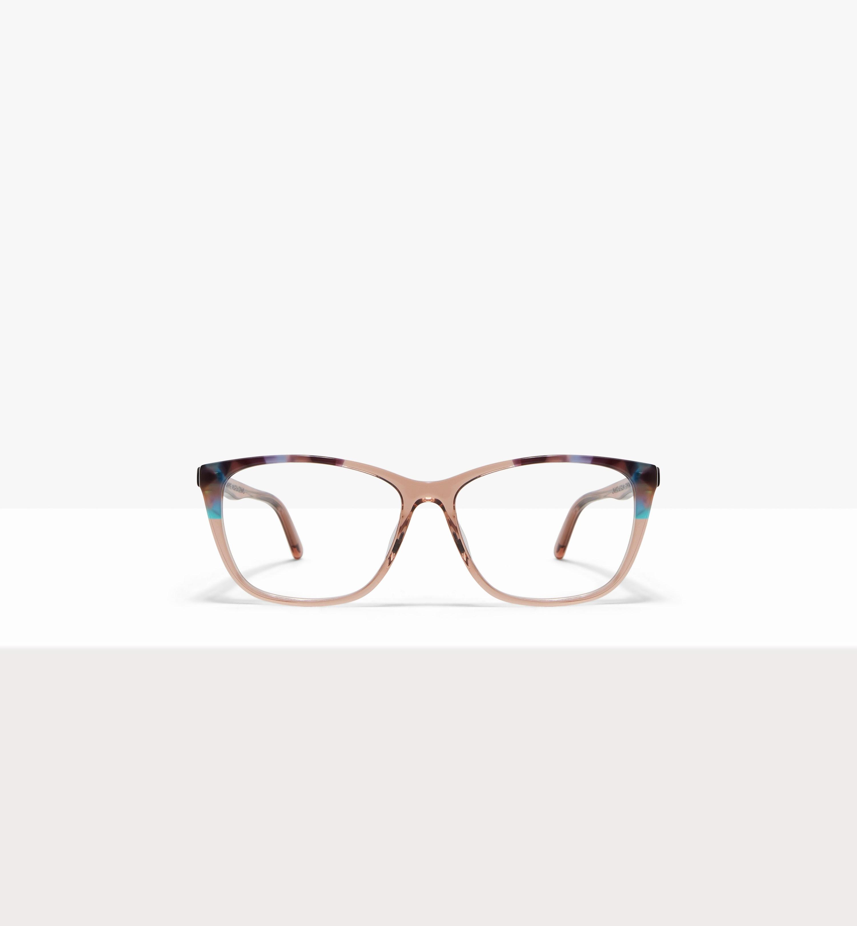 Affordable Fashion Glasses Cat Eye Rectangle Eyeglasses Women Myrtle Rose Dazzling Front