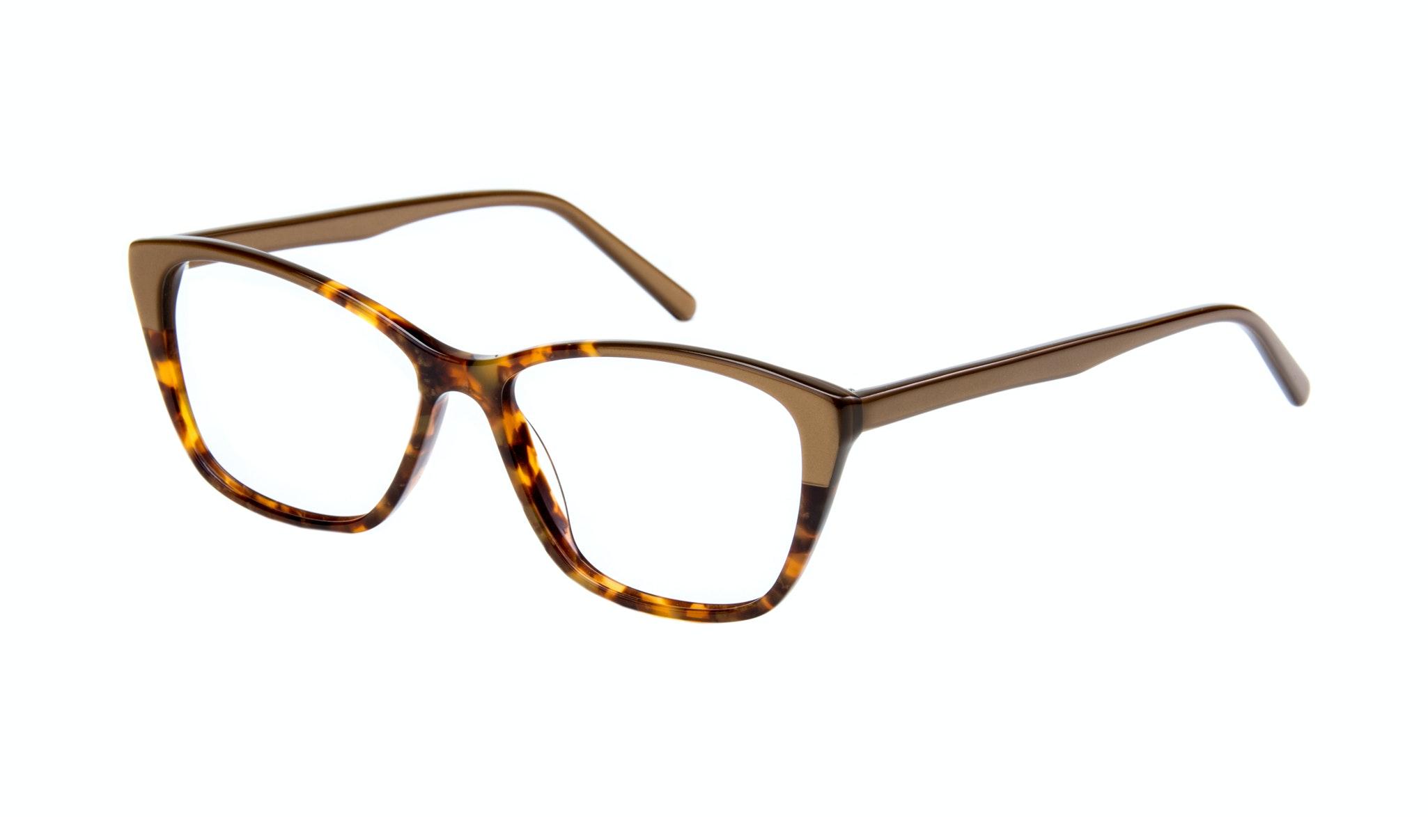 Affordable Fashion Glasses Cat Eye Rectangle Eyeglasses Women Myrtle Tort Gold Tilt