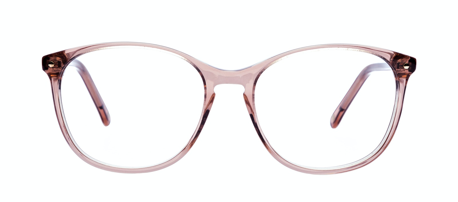 Affordable Fashion Glasses Rectangle Square Round Eyeglasses Women Nadine Rose Front