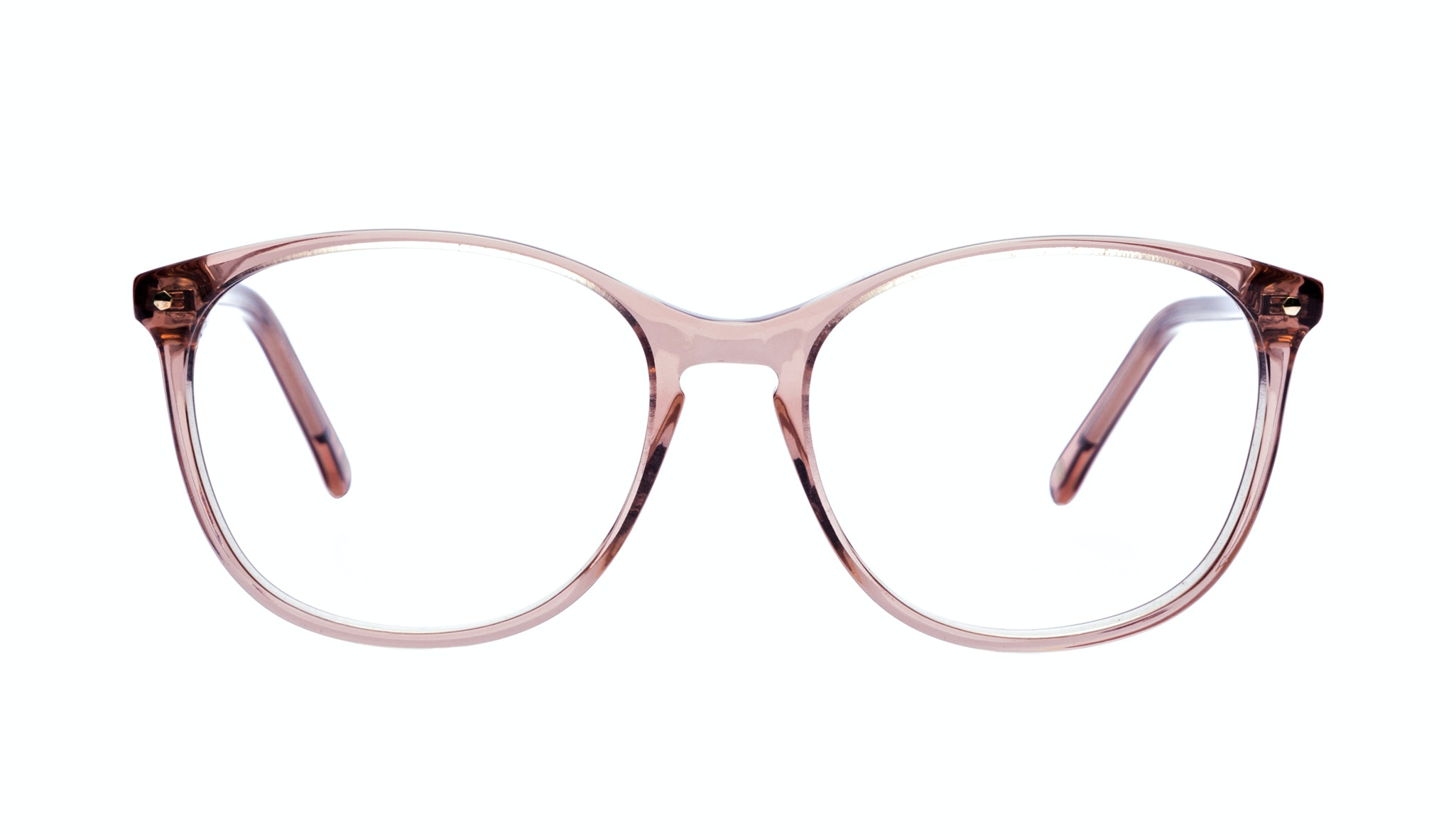Affordable Fashion Glasses Rectangle Square Round Eyeglasses Women Nadine Rose Front