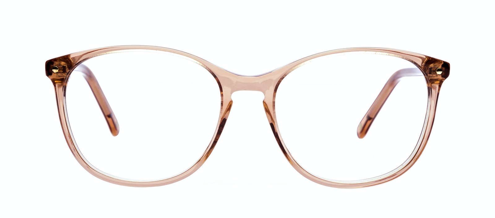 Affordable Fashion Glasses Round Eyeglasses Women Versa Rose Front