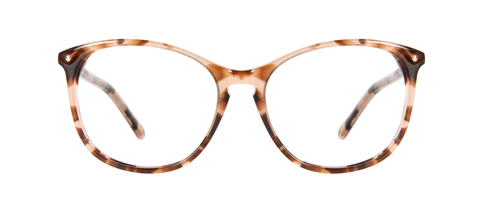 Affordable Fashion Glasses Round Eyeglasses Women Nadine Petite Pink Tortoise Front