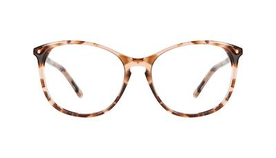 Affordable Fashion Glasses Round Eyeglasses Women Nadine Petite Pink Tortoise Front