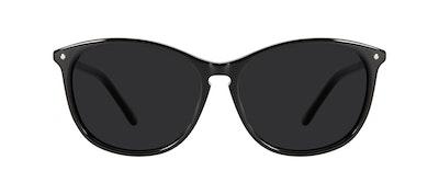 Affordable Fashion Glasses Round Sunglasses Women Nadine Petite Pitch Black Front