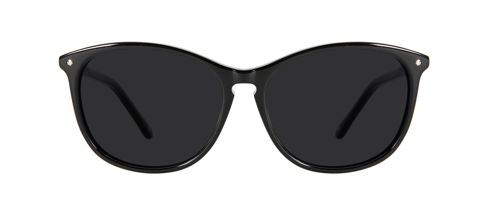 Affordable Fashion Glasses Round Sunglasses Women Nadine Petite Pitch Black Front