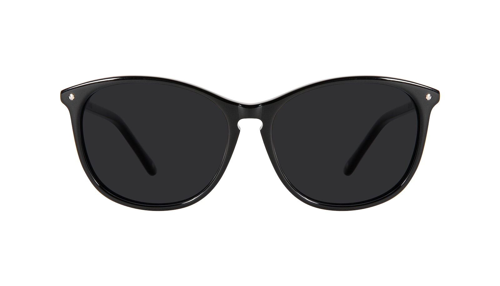 Affordable Fashion Glasses Round Sunglasses Women Nadine Petite Pitch Black