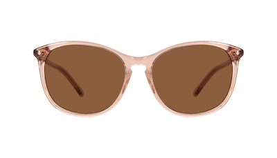 Affordable Fashion Glasses Round Sunglasses Women Nadine Petite Rose Front