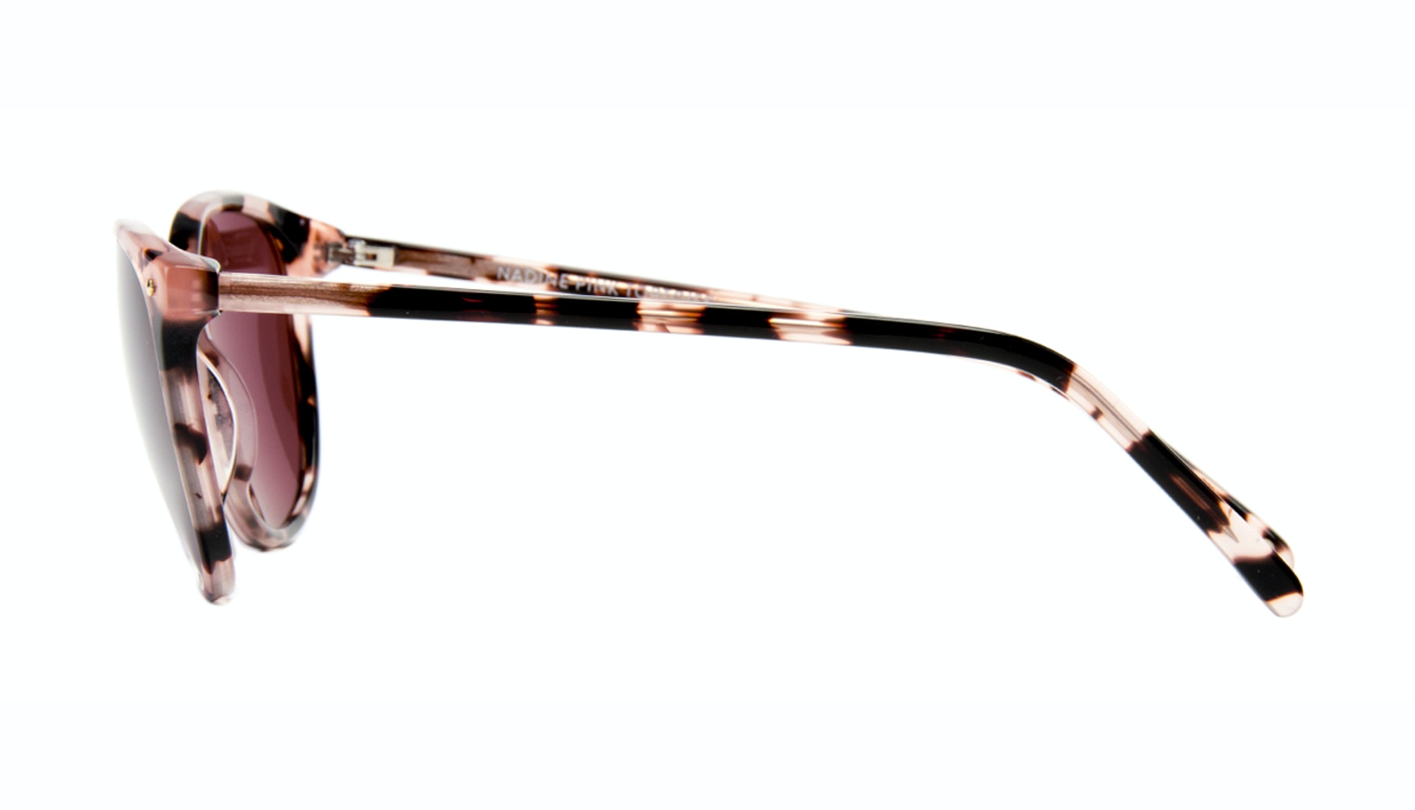 Affordable Fashion Glasses Rectangle Square Round Sunglasses Women Nadine Pink Tortoise Side
