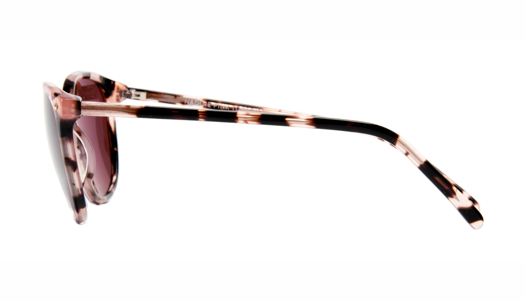 Affordable Fashion Glasses Rectangle Square Round Sunglasses Women Nadine Pink Tortoise Side