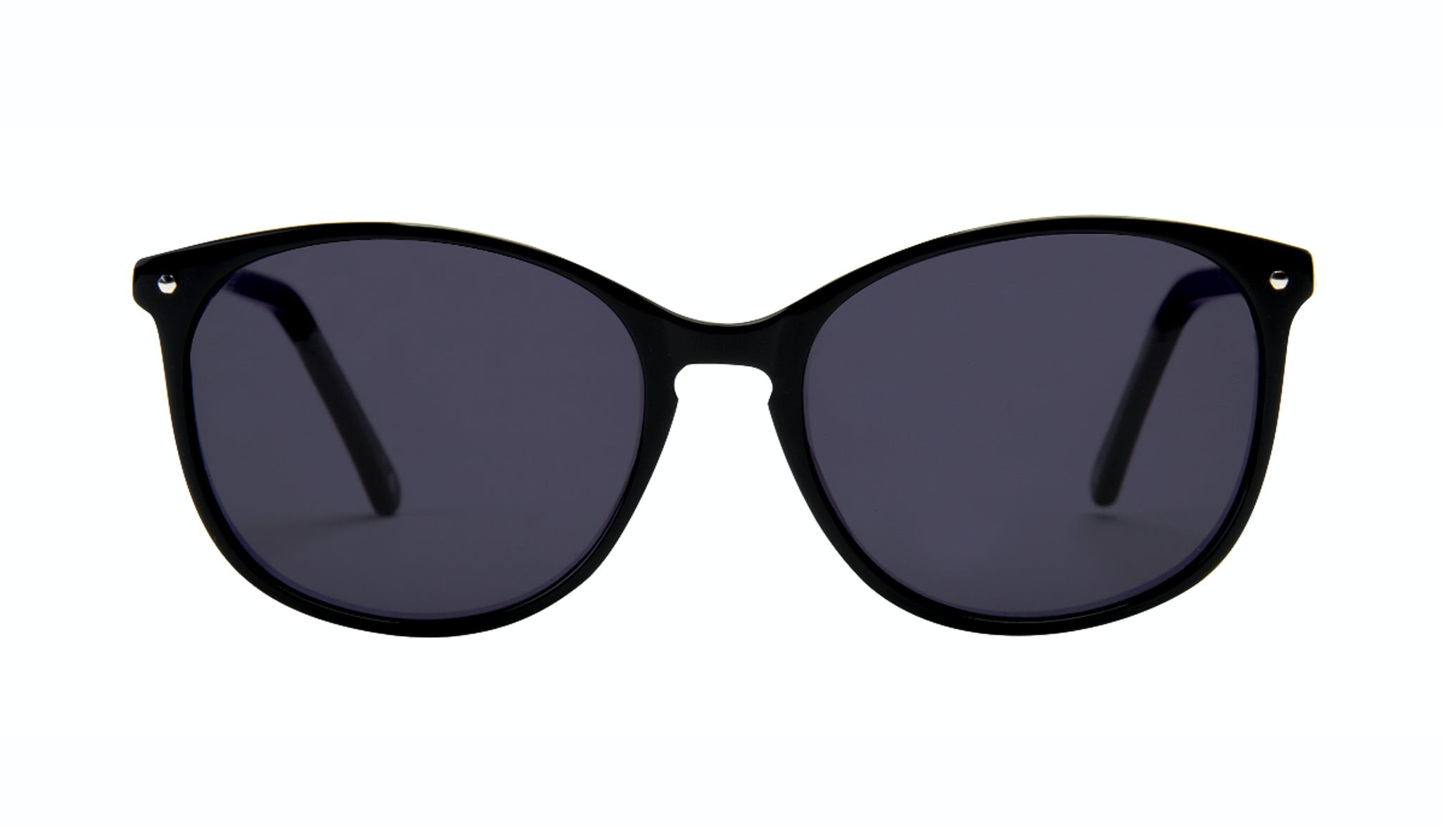 Affordable Fashion Glasses Rectangle Square Round Sunglasses Women Nadine Pitch Black
