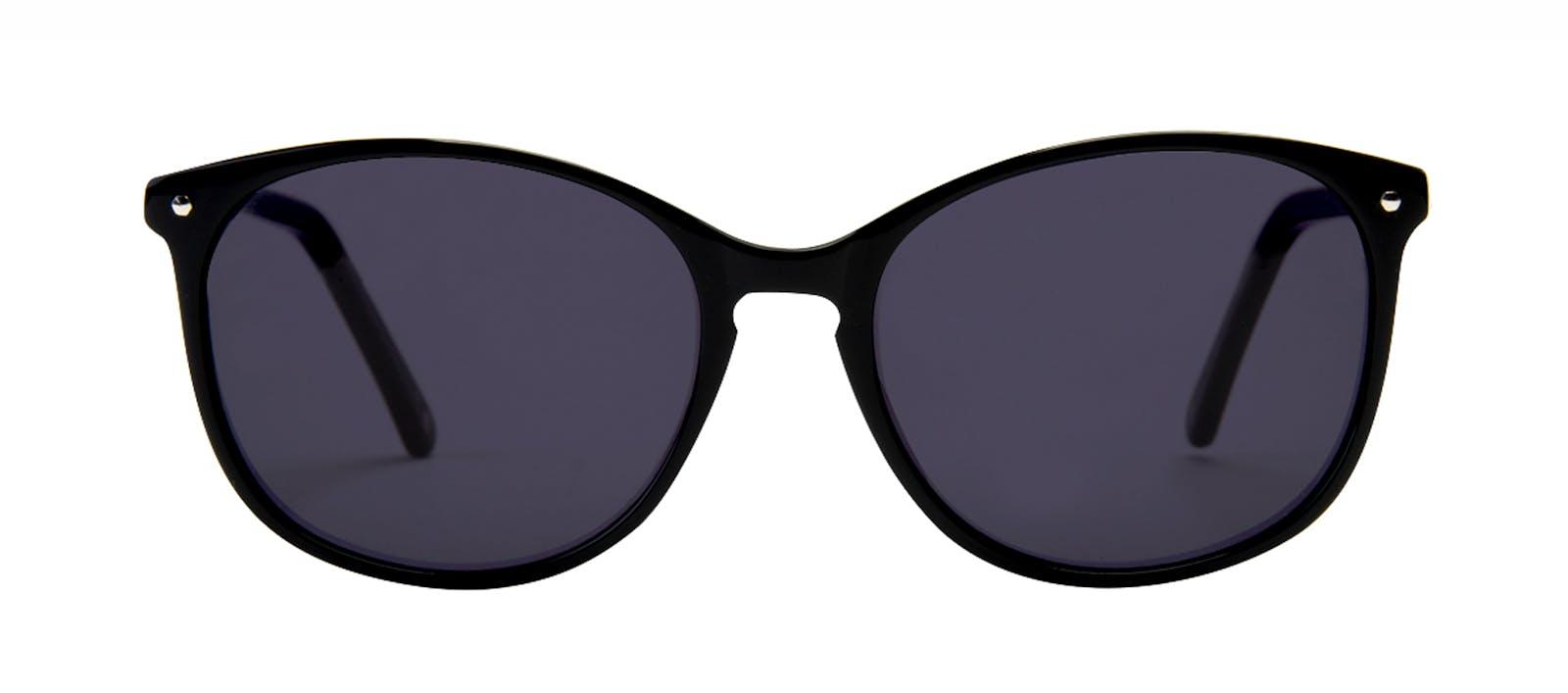 Affordable Fashion Glasses Rectangle Square Round Sunglasses Women Nadine  Pitch Black Front aca87e834