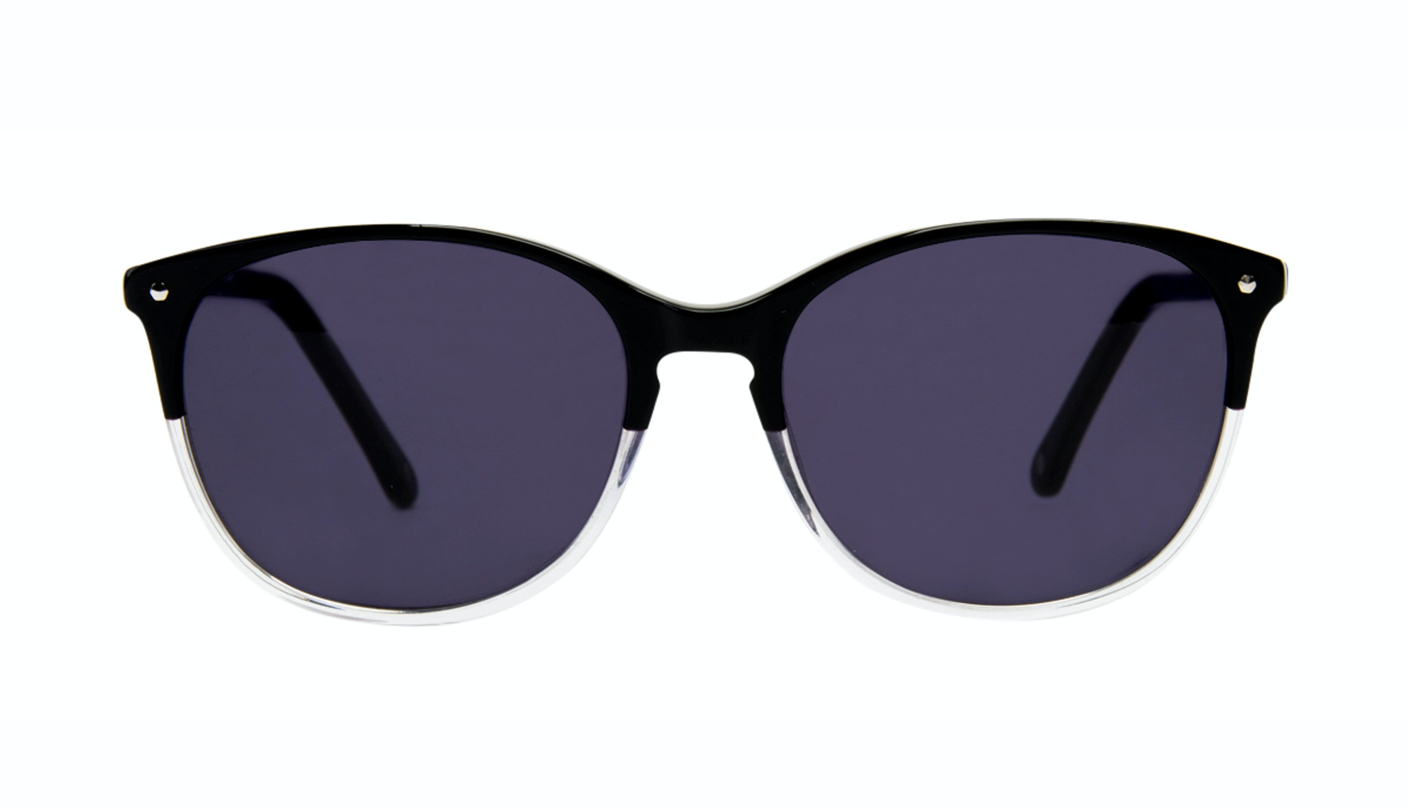 Affordable Fashion Glasses Rectangle Round Sunglasses Women Nadine Two Tone Black