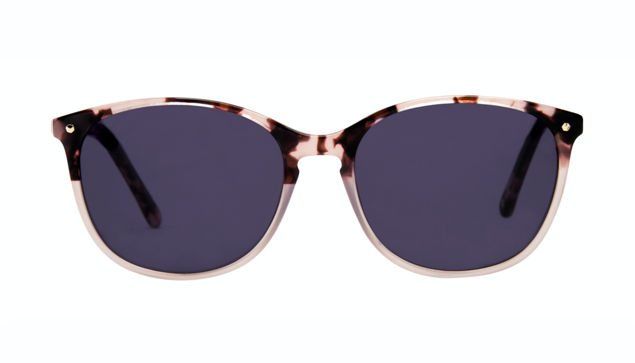 Affordable Fashion Glasses Rectangle Square Round Sunglasses Women Nadine Two Tone Pink