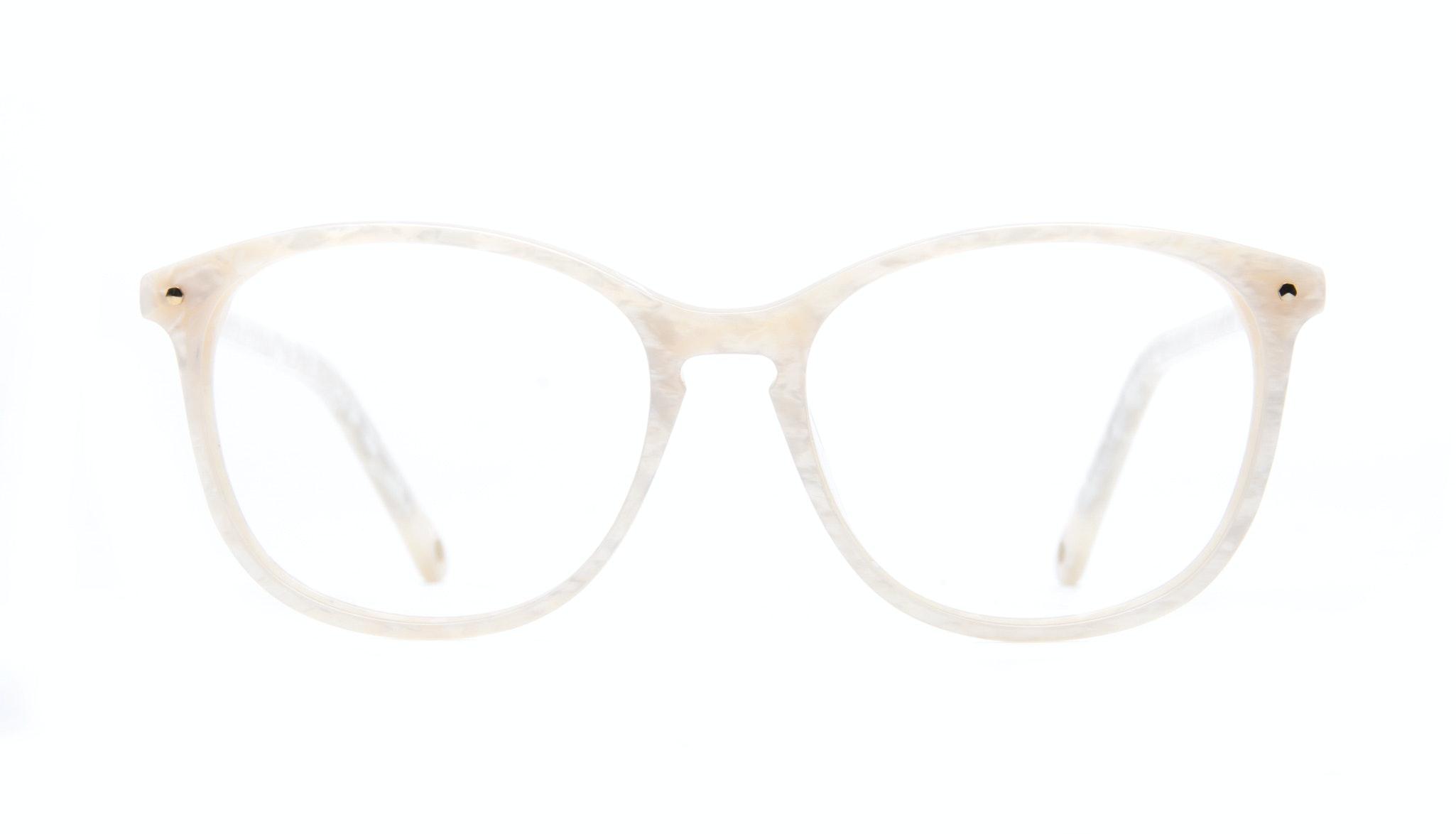 Affordable Fashion Glasses Rectangle Round Eyeglasses Women Nadine Oyster Front