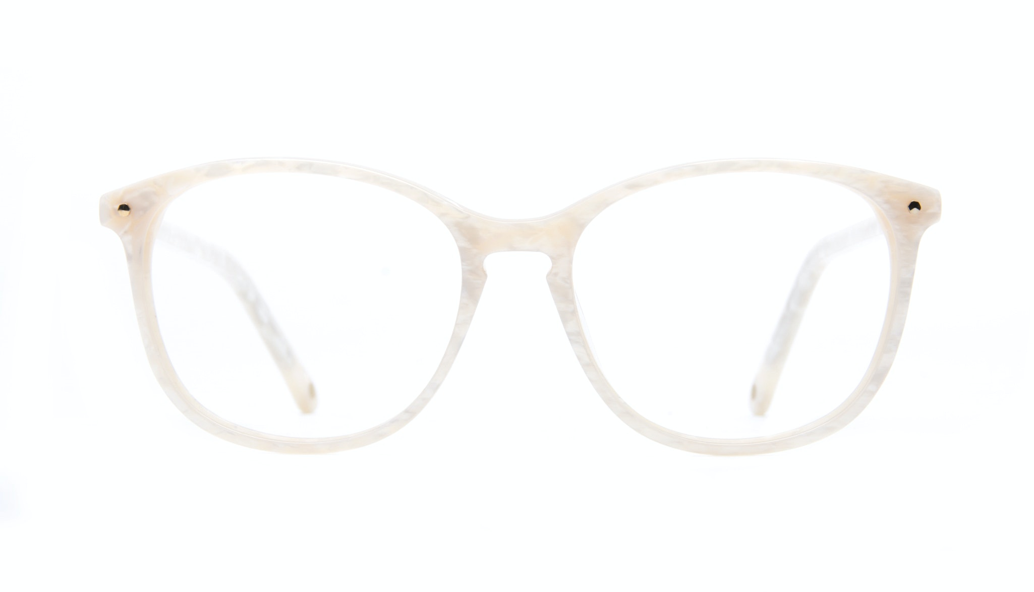 Affordable Fashion Glasses Rectangle Square Round Eyeglasses Women Nadine Oyster Front