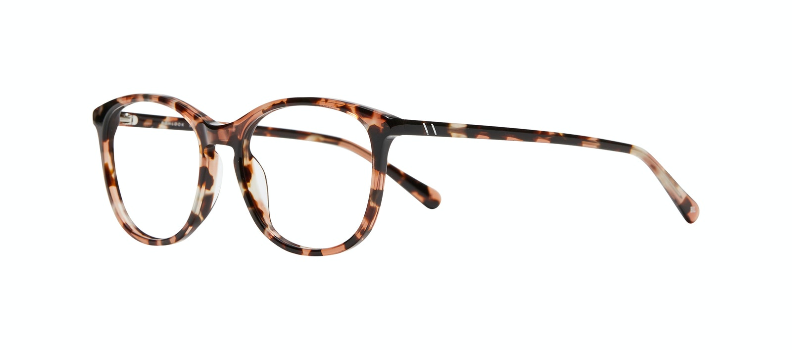 Affordable Fashion Glasses Rectangle Square Round Eyeglasses Women Nadine M Pink Tortoise Tilt