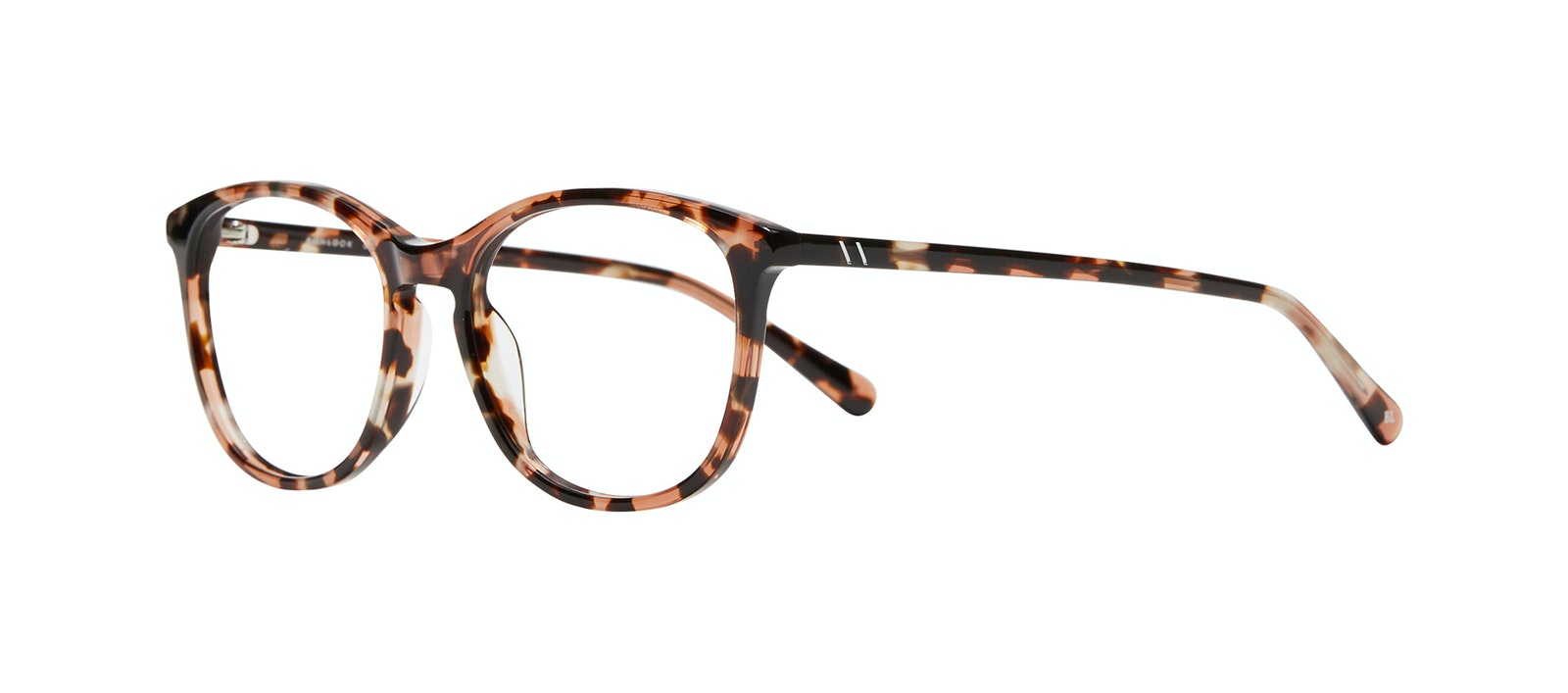 Affordable Fashion Glasses Rectangle Square Round Eyeglasses Women Nadine XL Pink Tortoise Tilt