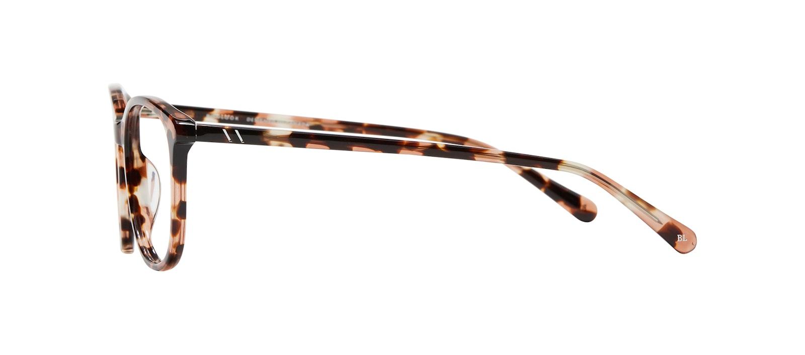 Affordable Fashion Glasses Rectangle Square Round Eyeglasses Women Nadine S Pink Tortoise Side