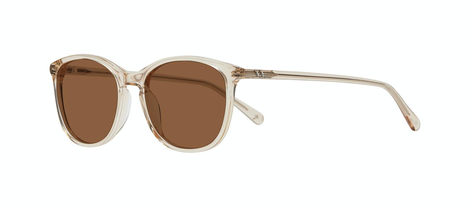 Affordable Fashion Glasses Rectangle Square Round Sunglasses Women Nadine XL Prosecco Tilt