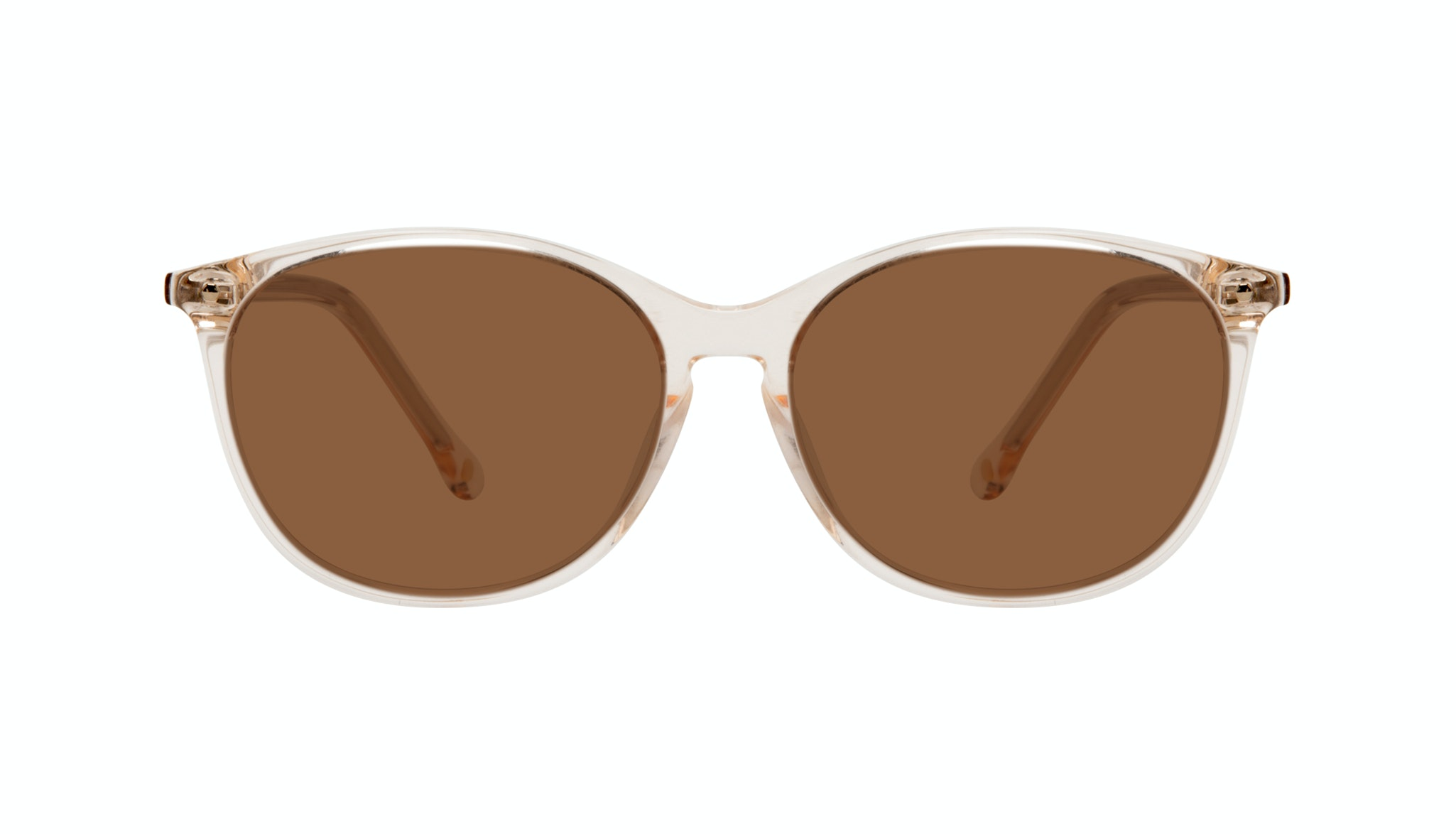 Affordable Fashion Glasses Rectangle Square Round Sunglasses Women Nadine Prosecco Front