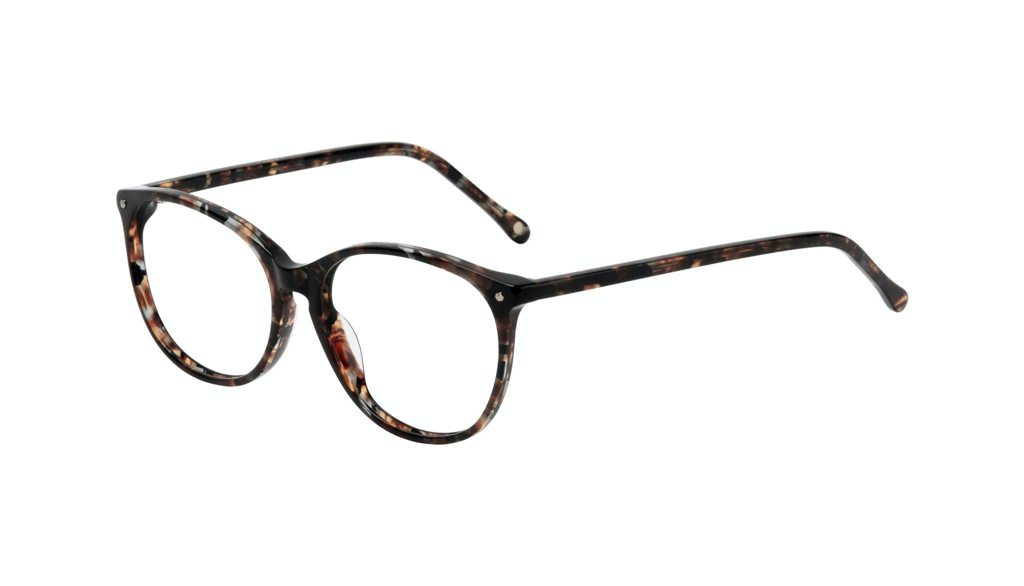 Affordable Fashion Glasses Rectangle Square Round Eyeglasses Women Nadine Sepia Tilt