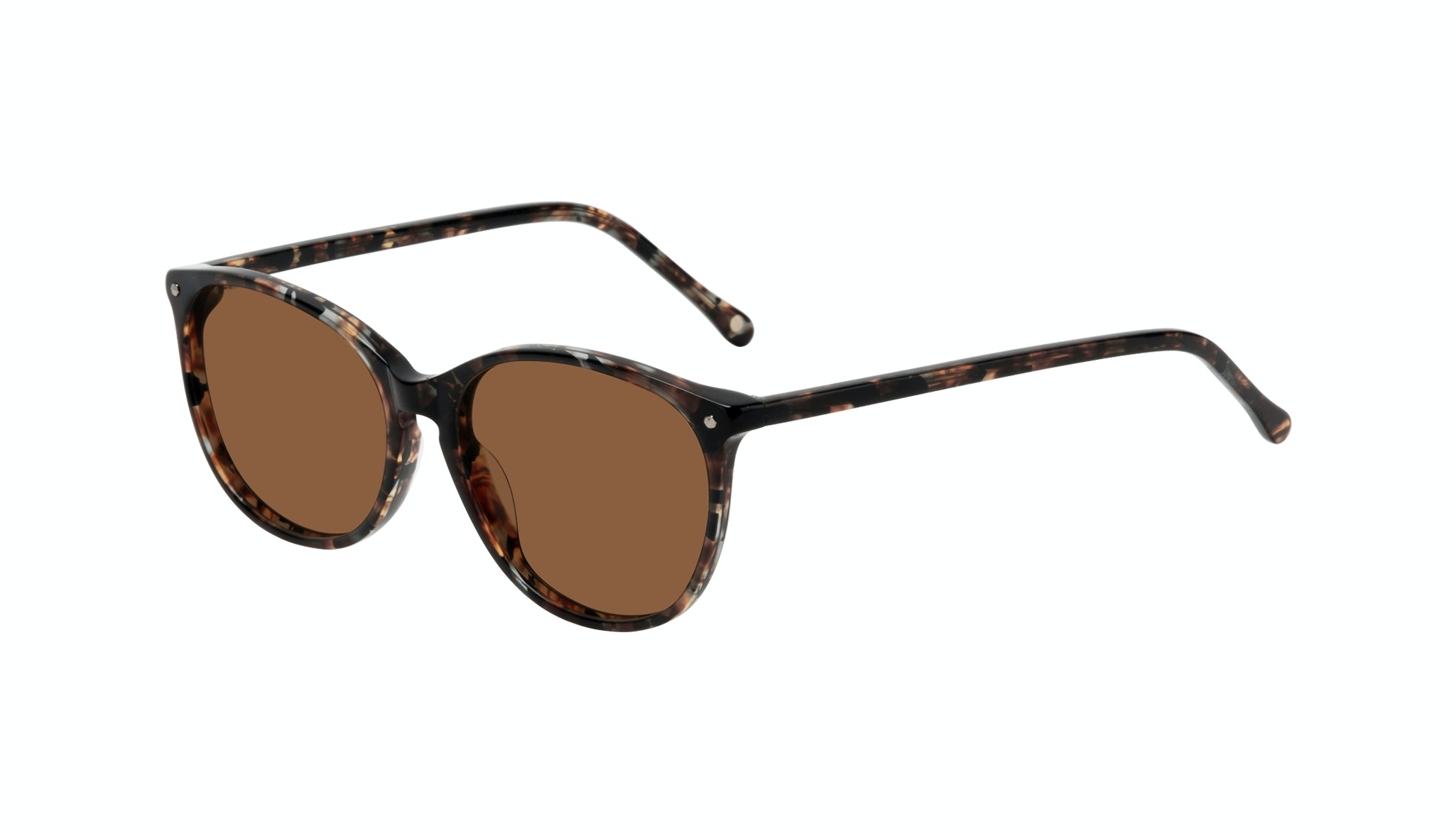Affordable Fashion Glasses Rectangle Square Round Sunglasses Women Nadine Sepia Tilt