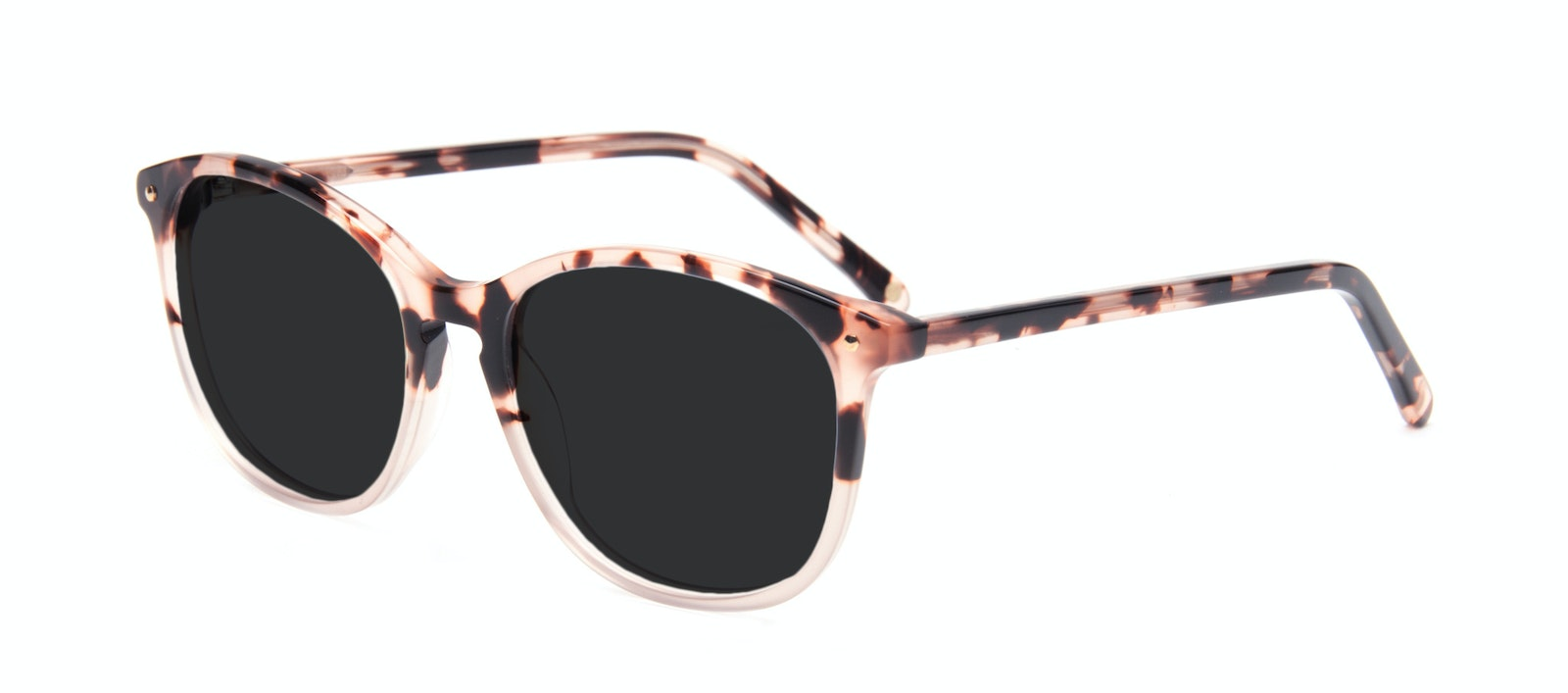 Affordable Fashion Glasses Rectangle Square Round Sunglasses Women Nadine Two Tone Pink Tilt
