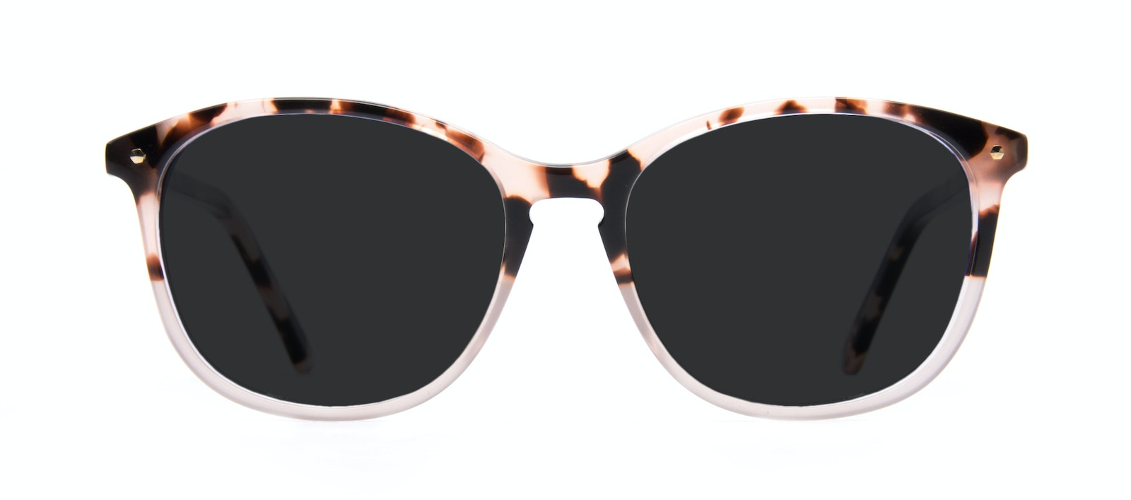 Affordable Fashion Glasses Rectangle Square Round Sunglasses Women Nadine Two Tone Pink Front