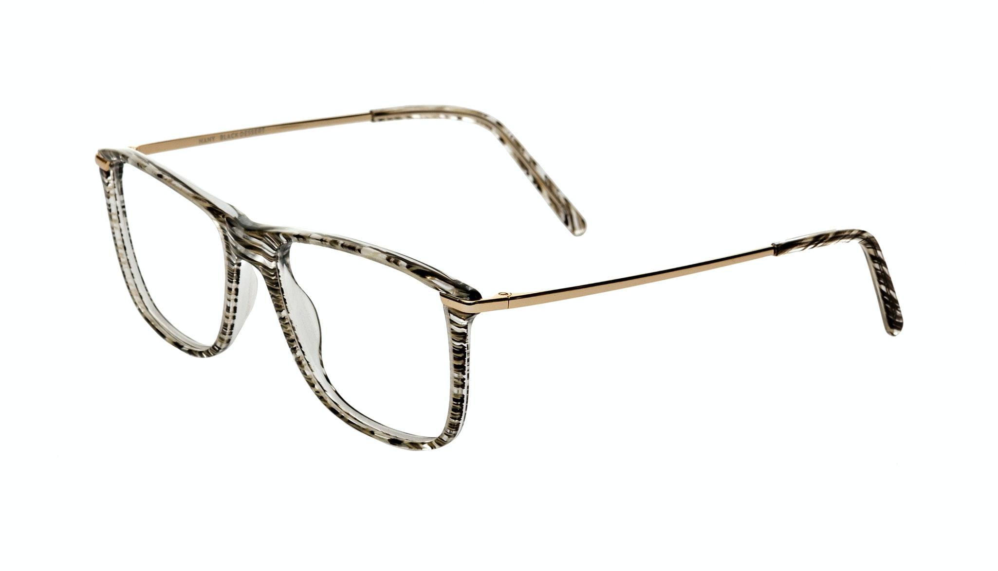 Affordable Fashion Glasses Rectangle Eyeglasses Women Nany Black Desert Tilt