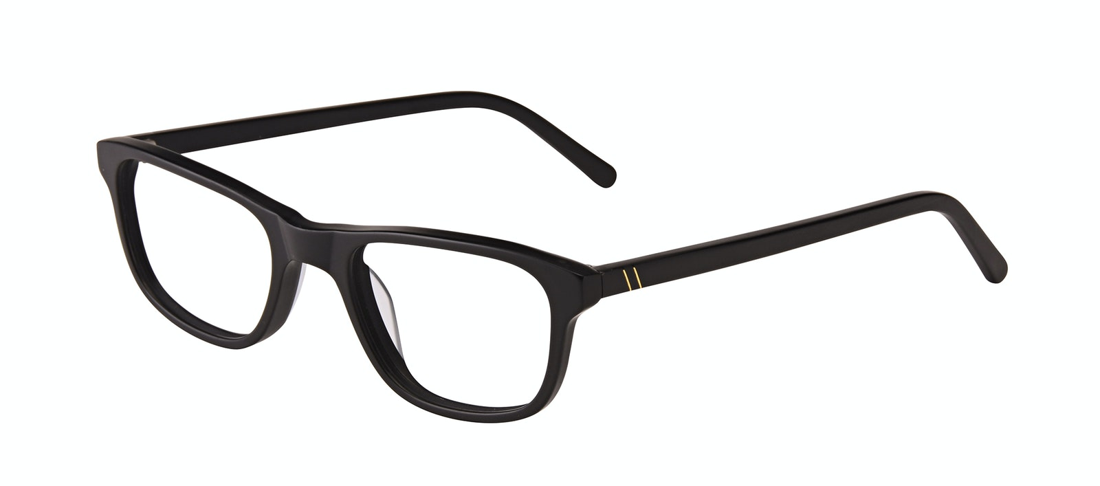 Affordable Fashion Glasses Rectangle Eyeglasses Men Neat Matte Black Tilt