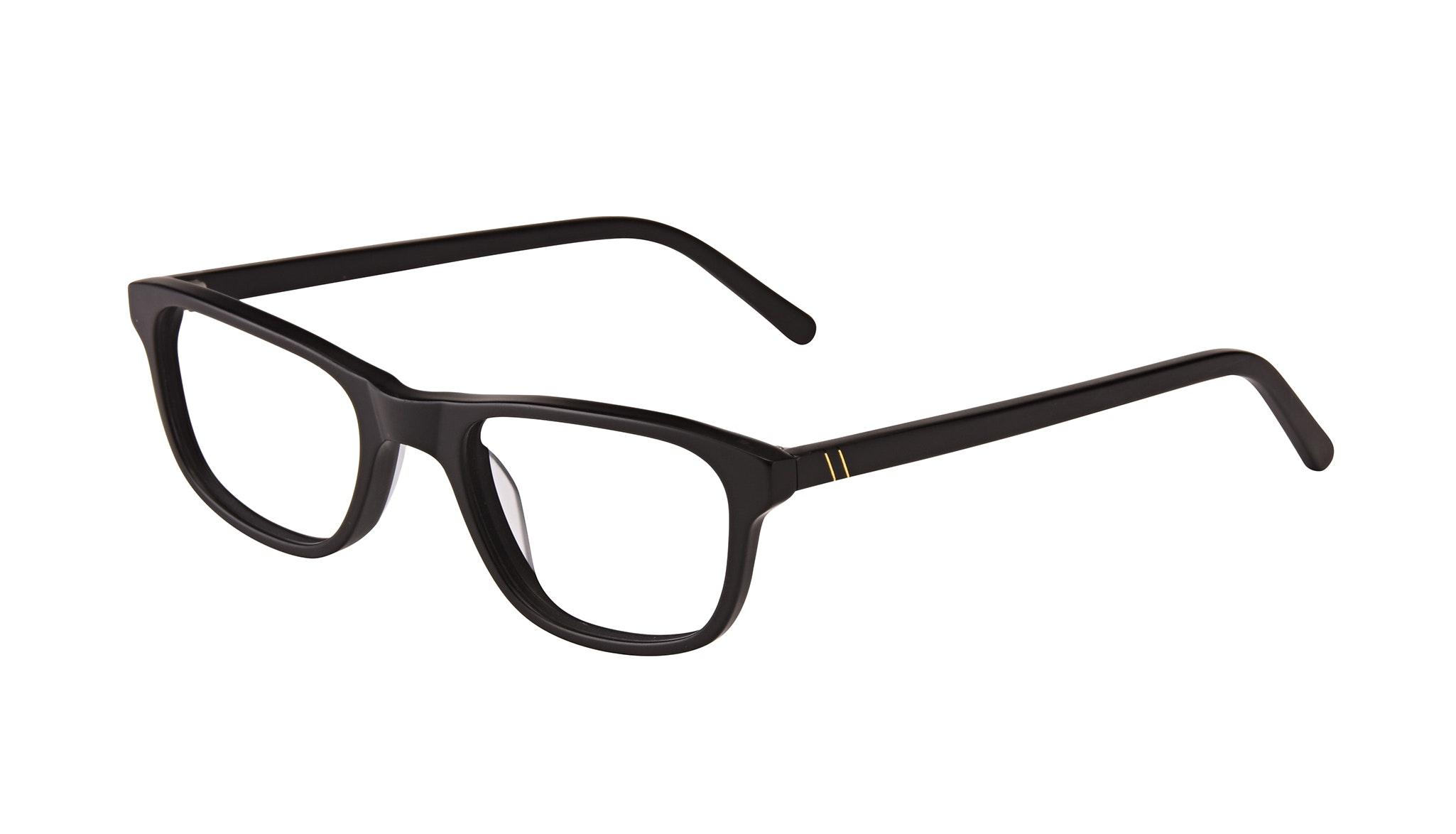 Affordable Fashion Glasses Rectangle Eyeglasses Men Neat Matte Black Tilt