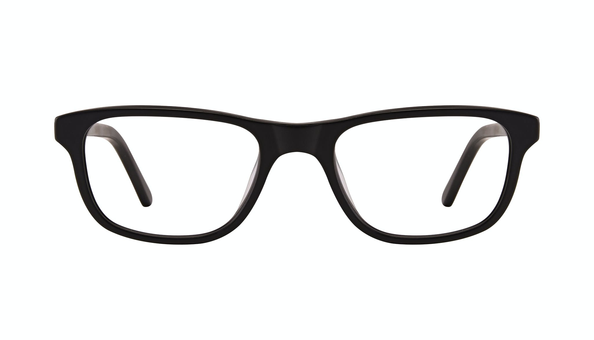 Affordable Fashion Glasses Rectangle Eyeglasses Men Neat Matte Black