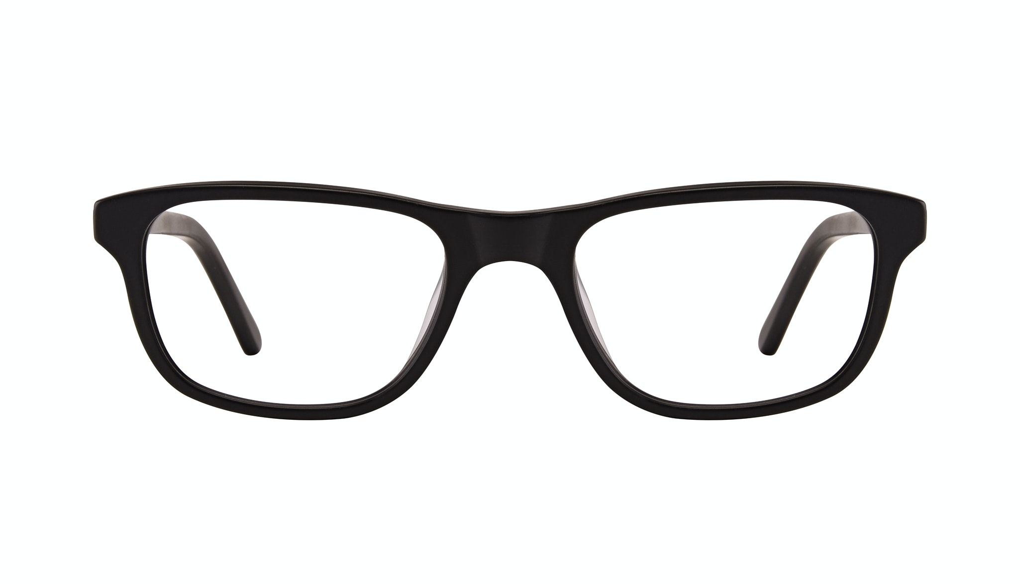 Affordable Fashion Glasses Rectangle Eyeglasses Men Neat Matte Black Front