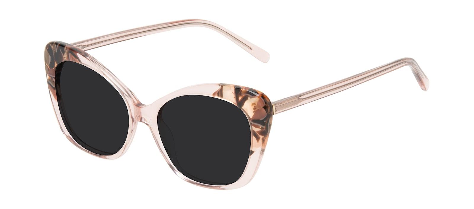 Affordable Fashion Glasses Cat Eye Sunglasses Women Obvious Pink Quartz Tilt