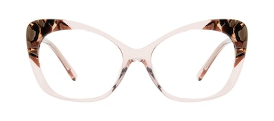 Affordable Fashion Glasses Cat Eye Eyeglasses Women Obvious Pink Quartz Front