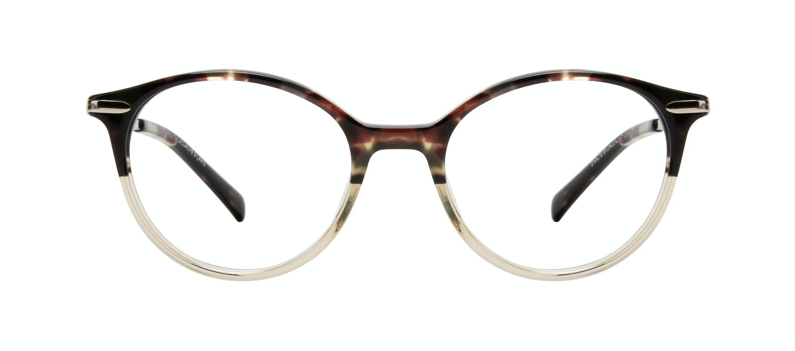 Affordable Fashion Glasses Round Eyeglasses Women One Golden Tort Front