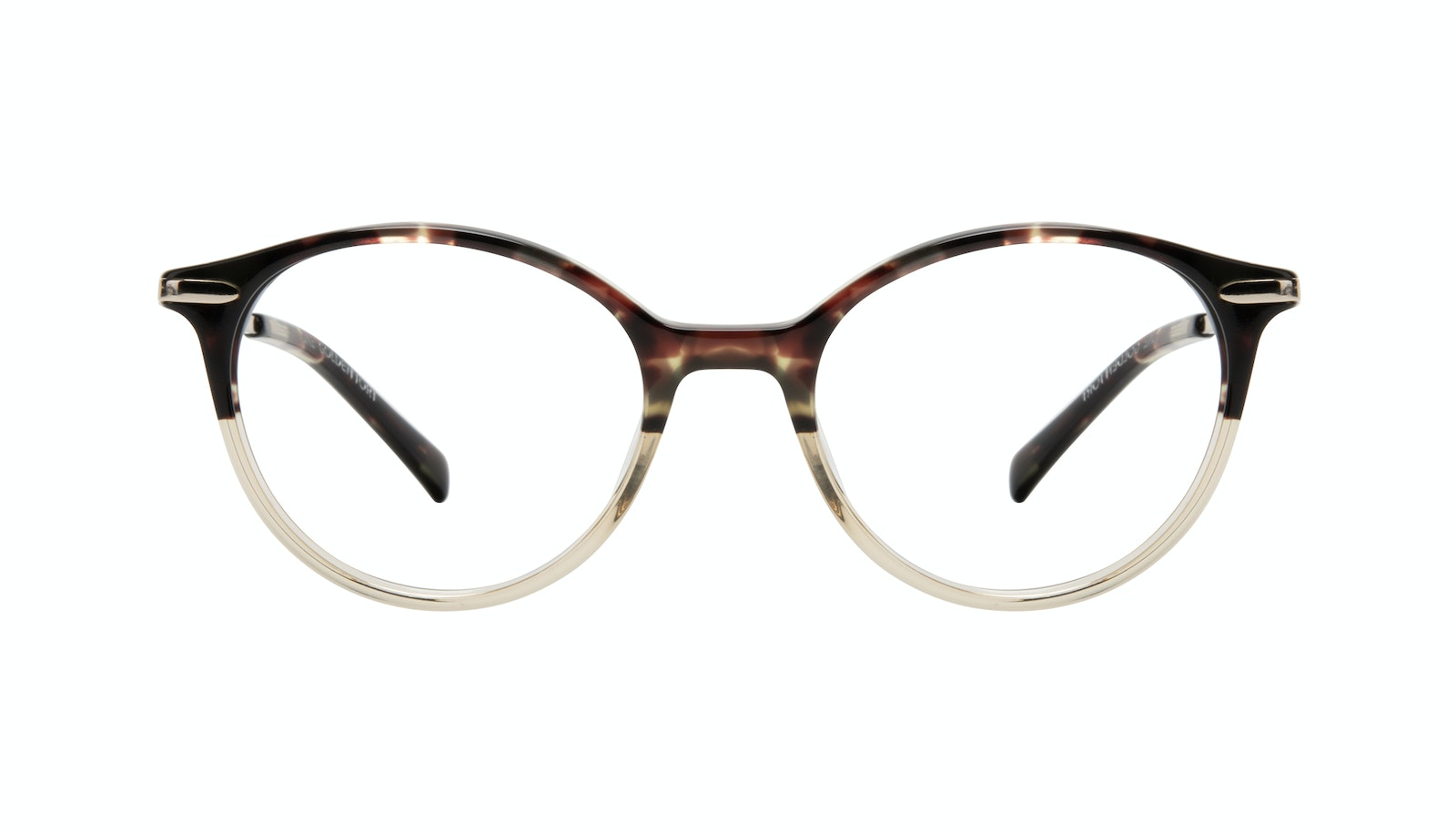 Affordable Fashion Glasses Round Eyeglasses Women One Golden Tort