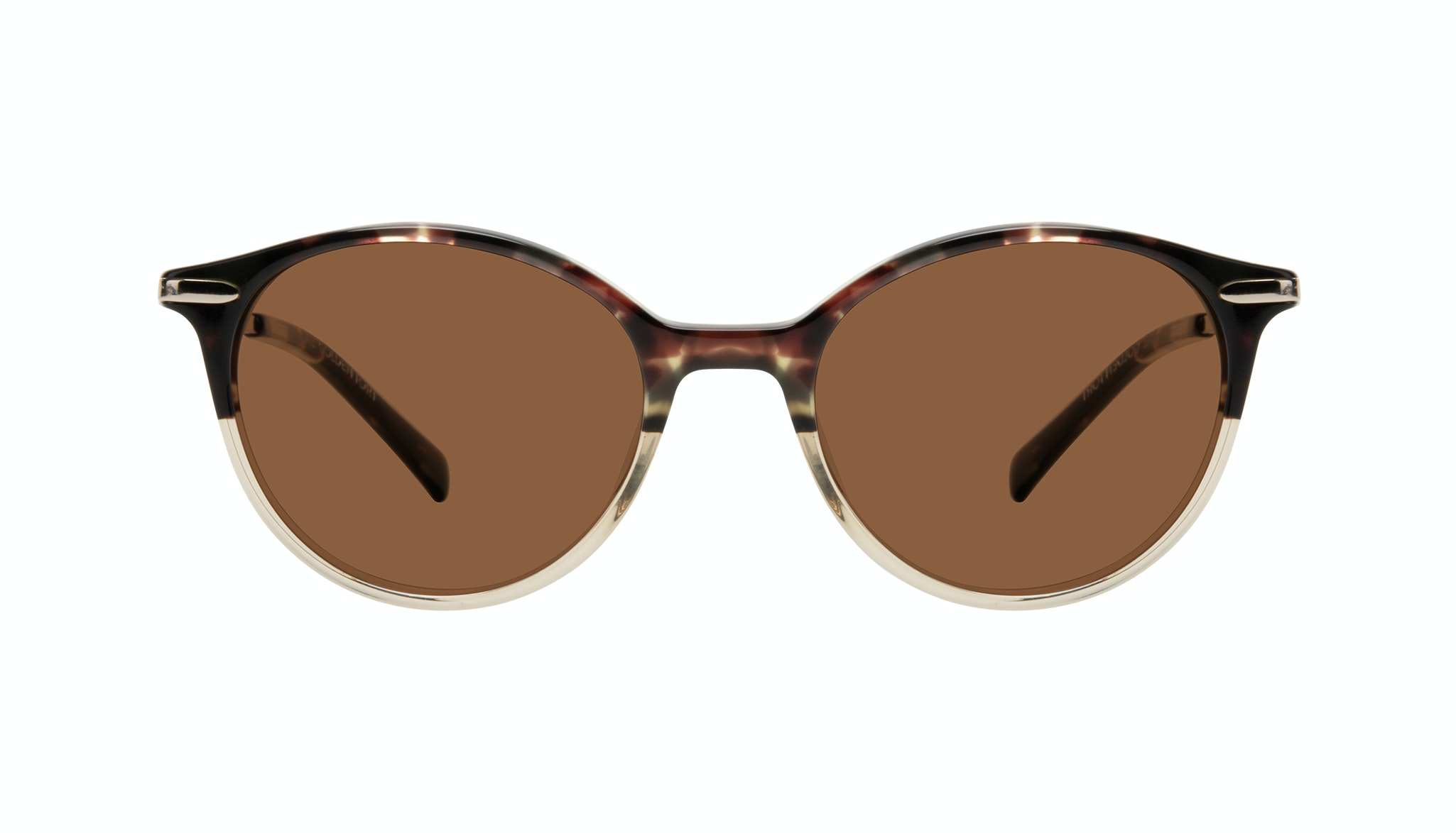 Affordable Fashion Glasses Round Sunglasses Women One Golden Tort Front