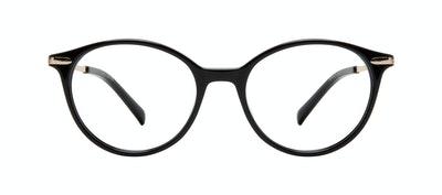 Affordable Fashion Glasses Round Eyeglasses Women One Onyx Front