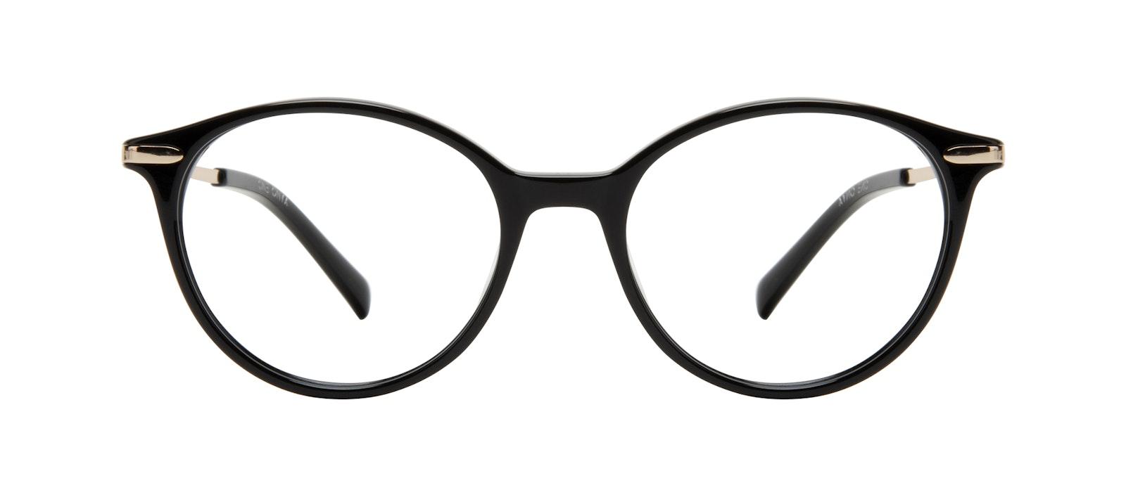 Affordable Fashion Glasses Round Eyeglasses Women One Onyx Front