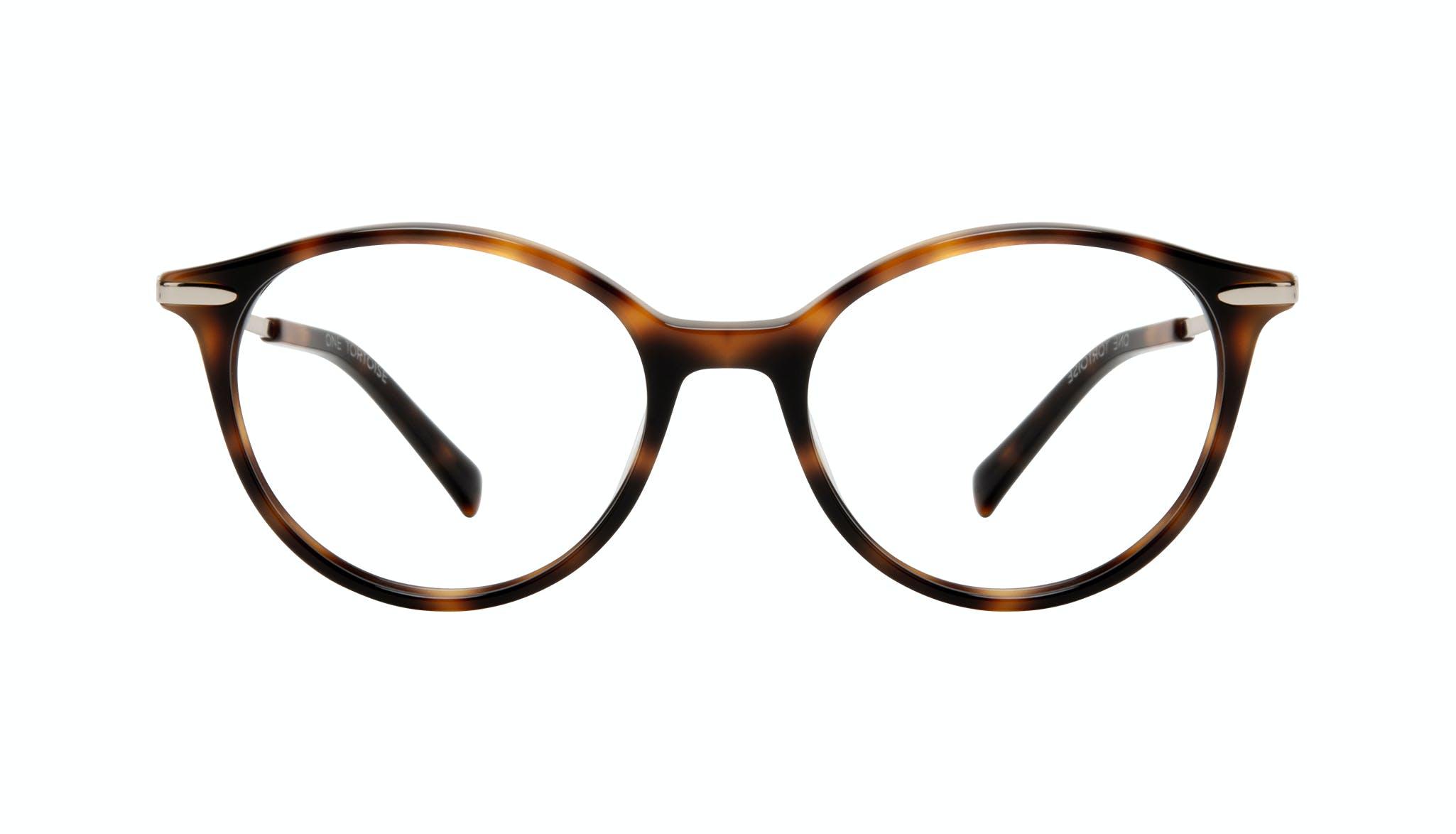 Affordable Fashion Glasses Round Eyeglasses Women One Tortoise Front