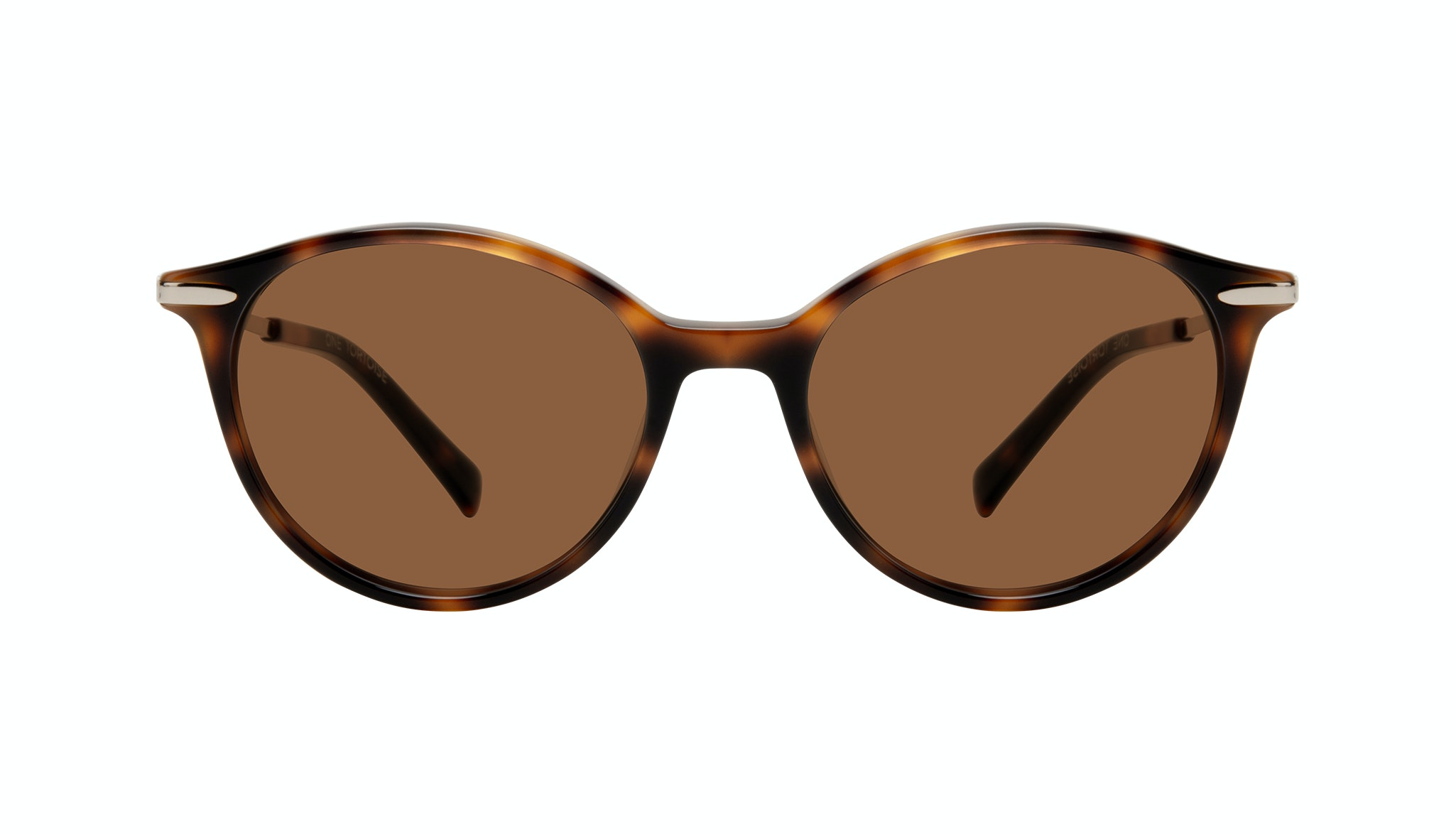 Affordable Fashion Glasses Round Sunglasses Women One Tortoise Front