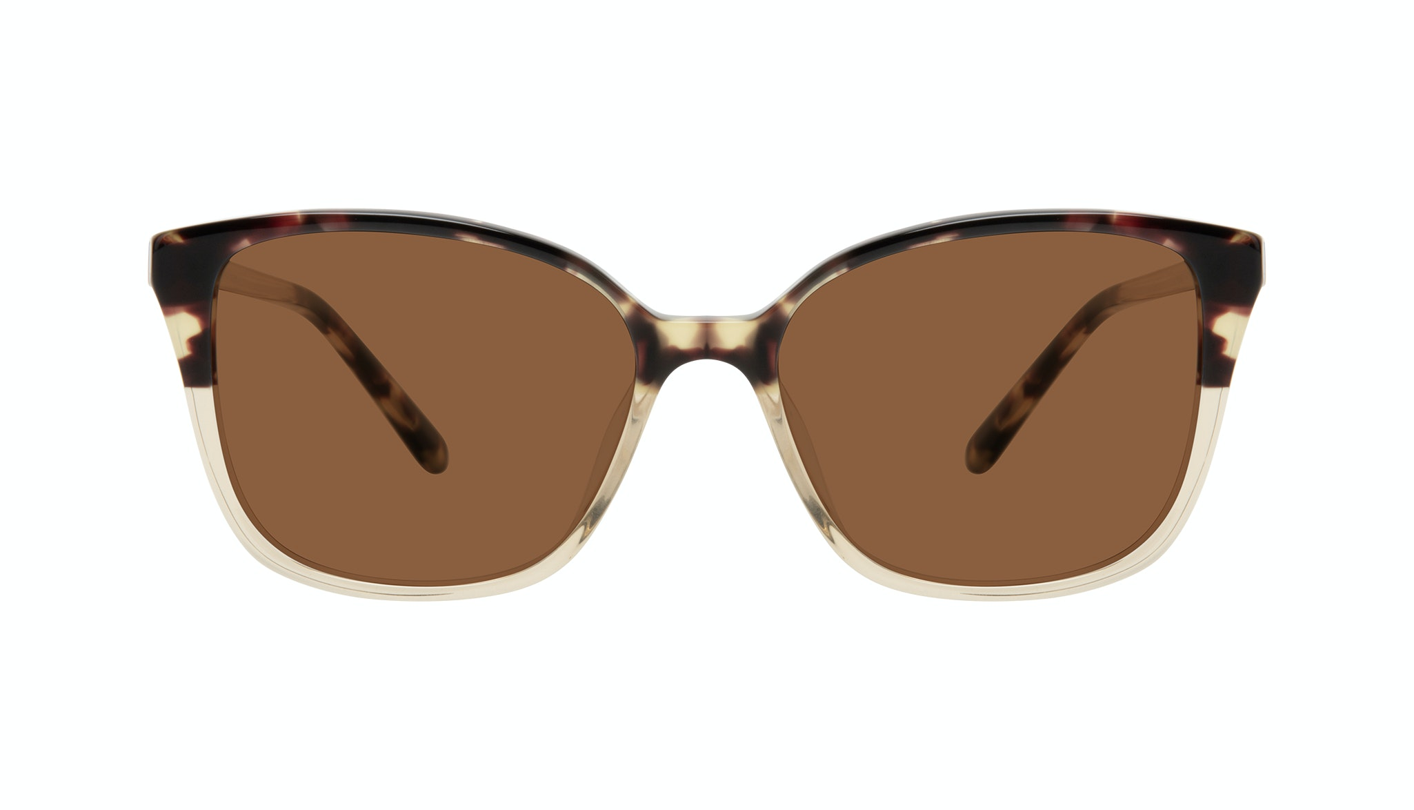 Affordable Fashion Glasses Square Sunglasses Women Only Golden Tort Front